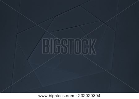 Sheets Of Thick Blue Paper, Cardboard. Abstract Geometric Background In Dark Tones. Suitable As Desi