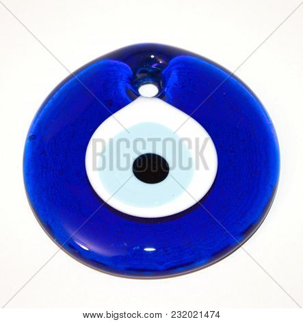 A Evil Eye Isolated On White Background