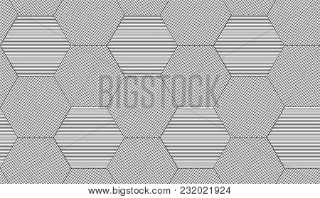 Seamless Geometric Pattern. Vector Abstract Repeating Classical Background In Black And White Color.