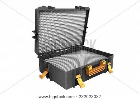 Open Tools Case 3d Render On White Background No Shadow