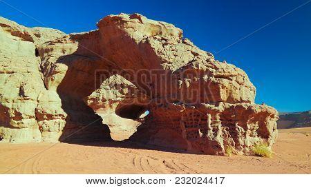 Landscape Of Sand Dune And Sandstone Nature Sculpture At Tamezguida In Tassili Najjer National Park
