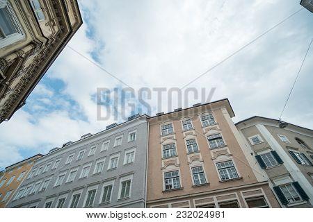 Medieval And Baroque Buildings In Salzburg, Austria.