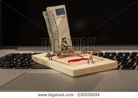Conceptual Photo, Presents The Risk Of Investing On The Internet, The Dangers Of Online Crime, The E