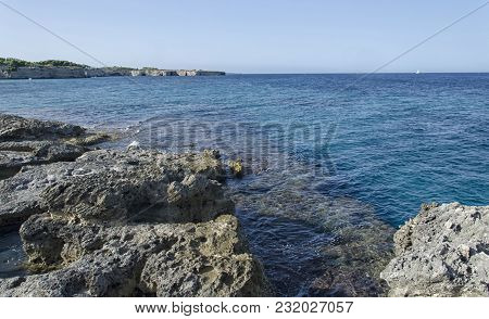 View Of The Beautiful Sea Of Apulia