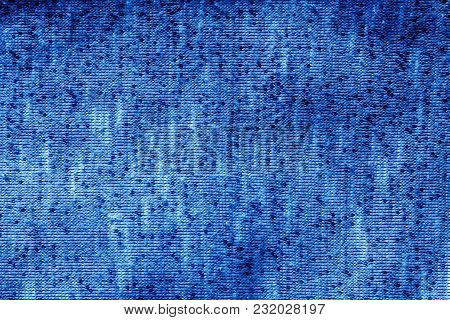 Knitted Texture In Navy Blue Tone. Abstract Background And Texture For Design.