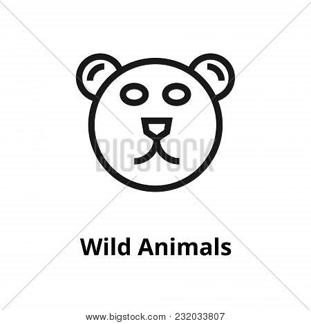 Wild Animals Thin Line Icon. Icon For User Interface And Web