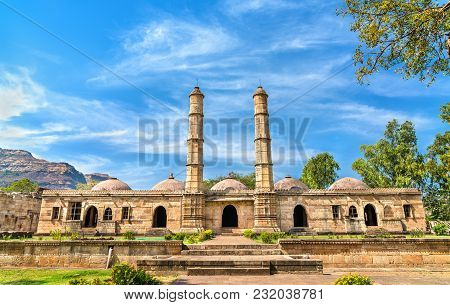 Sahar Ki Masjid at Champaner-Pavagadh Archaeological Park. A UNESCO world heritage site in Gujarat, India poster