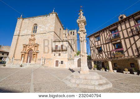 Court Pillar In Penaranda De Duero Main Square