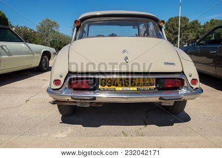 Beit Nir, Israel - March 17, 2018: Vintage Citroen Ds Dsuper Car Presented On Oldtimer Car Show, Isr