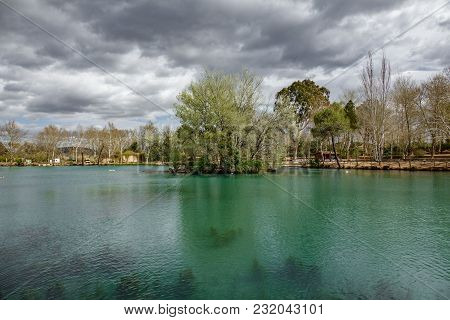 Wide Angle View Of Lake Of Anna In Valencian Community