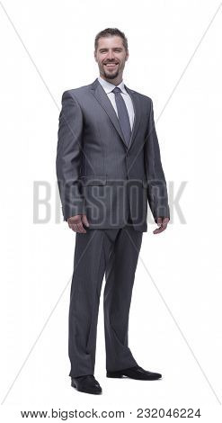 in full growth.portrait of confident businessman