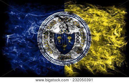Trenton City Smoke Flag, New Jersey State, United States Of America