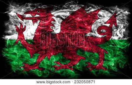 Wales Smoke Flag,  Part Of The United Kingdom