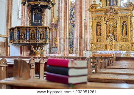 Neuberg An Der Murz, Austria - March 11, 2018: Neuberg Abbey Is A Former Cistercian Monastery. Holy