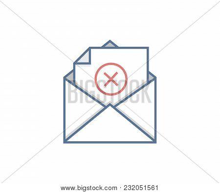 Email Transaction Error. Failed Message Sending. Vector Icon Design