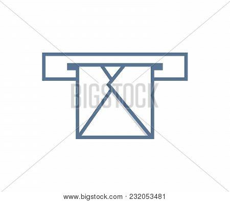 Email Envelope Through Mailbox. Either Sending Or Receiving. Vector Icon Design