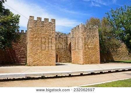 View Of The Entrance Arch Of The Governors Castle (castelo Dos Governadores), Lagos, Algarve, Portug
