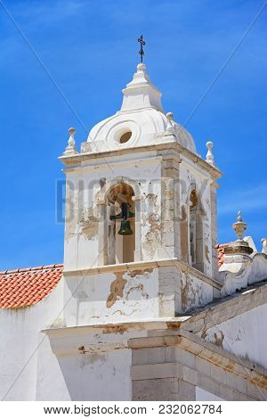 View Of Santo Antonio Church Bell Tower (igreja De Santo Antonio) In The Old Town, Lagos, Algarve, P