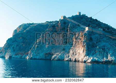 Landscape Of An Ancient Shipyard Near The Tower Of Kyzyl-kule On The Peninsula Of Alanya, Antalya Re