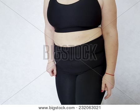 Belly Big Woman Overweight Fatness, Lose, Oversize, Size Plus