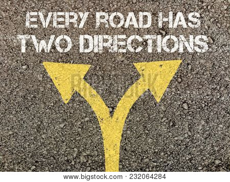Quotes on directions, written on road surface
