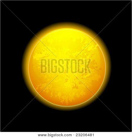 Vector realistic moon