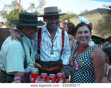 Alora, Spain - September 11, 2011: People Enjoying Life At Local Fiesta In Andalusia