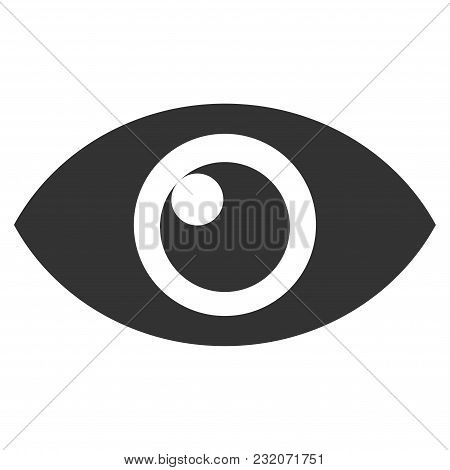 Eye Vector Pictogram. Illustration Style Is A Flat Iconic Symbol.