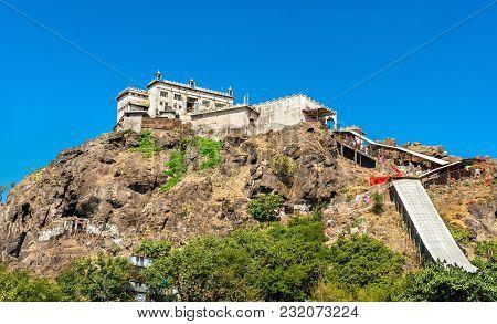 Kalika Mata Temple at the summit of Pavagadh Hill - Gujarat state of India poster