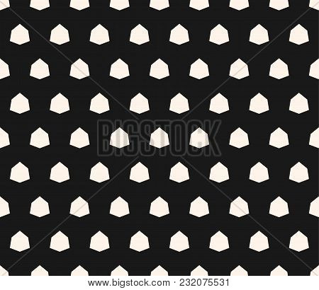 Vector Geometric Seamless Pattern With Small Diamond Shapes, Angular Hexagonal Figures. Simple Abstr