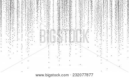 Dotwork Background Vector. Dark Geometric Monochrome Fantasy Explosion. Stippled Retro Illustration