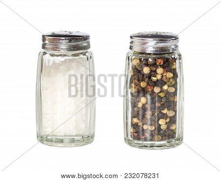 Salt And Pepper Shaker Isolated On White