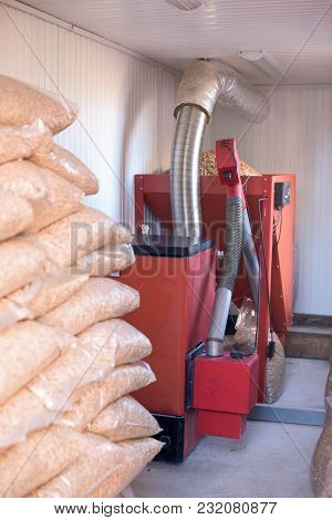 Home Pellet Burner Instalation And Wooden Biomass