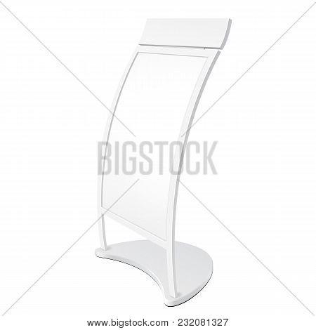 Poster Stand For Floor C-shaped Curve Outdoor Indoor Stander Advertising Banner Shield Display. Illu