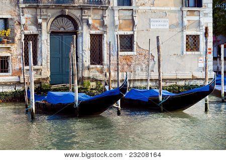 Gondolas In Venice In Italy