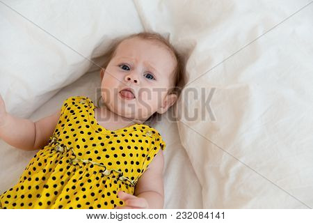 A Portrait Of A Newborn Infant Baby