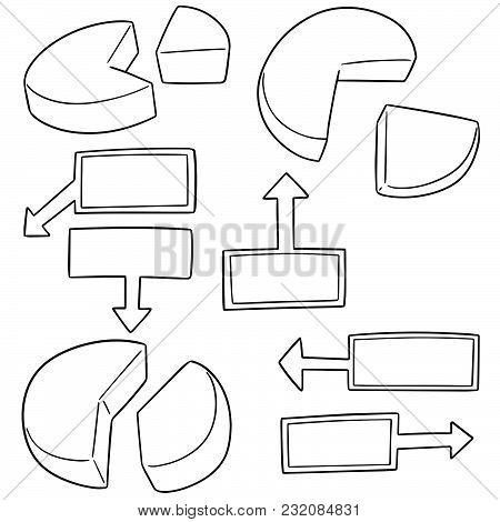 Vector Set Of Pie Chart Hand Drawn Cartoon