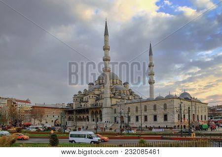 Istanbul, Turkey - March 28, 2012: Yeni Cami Mosque.