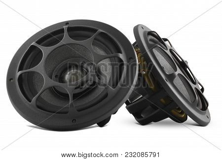 Speaker With Gray Diffuser Isolated On White Background.