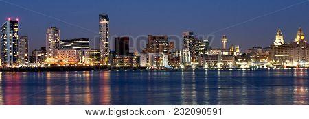 Image Of Liverpool Waterfront Shot At Night