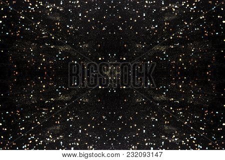 Abstract Background Image Of Crystals And Colored Dust, The Concept Of Space And Non-existing Conste