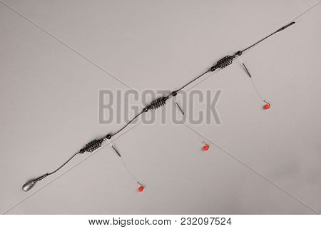Bait Fishing For Carp Isolated On Gray Background With Soft Shadow