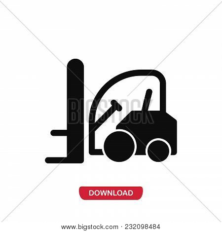 Forklift Icon Vector In Modern Flat Style For Web, Graphic And Mobile Design. Forklift Icon Vector I