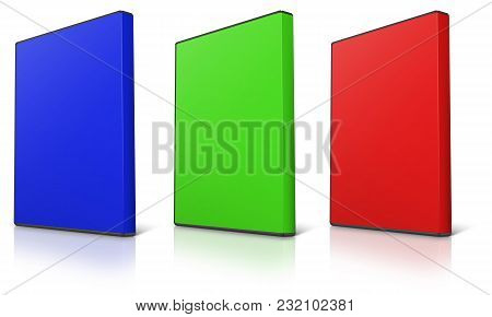 Abstract Rgb Dvd Case On White Background