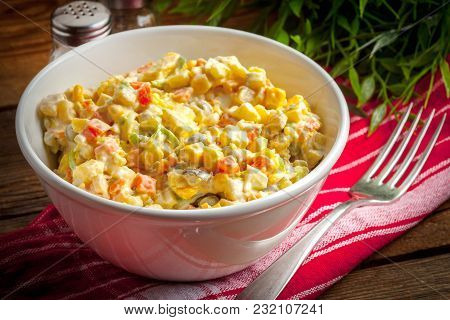 Russian Traditional Salad.