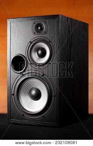 Photo Of Black Music Audio Speaker. Close-up