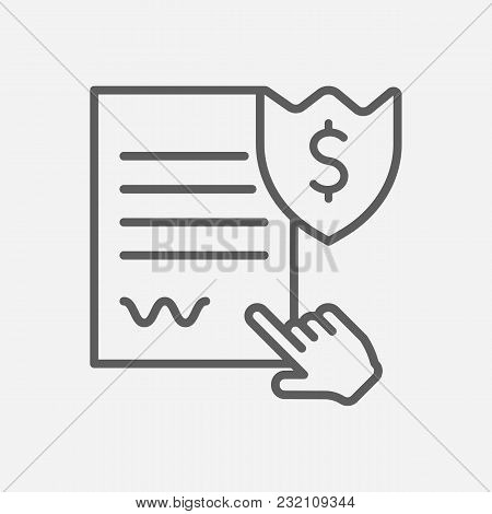 Penalty Icon Line Symbol. Isolated Vector Illustration Of  Icon Sign Concept For Your Web Site Mobil