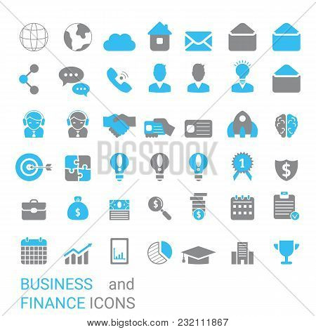 Collection Business Icons. Business Elements To Use In Web, Smart Phone Application Ets.