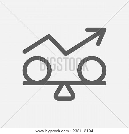 Stability Icon Line Symbol. Isolated  Illustration Of  Icon Sign Concept For Your Web Site Mobile Ap