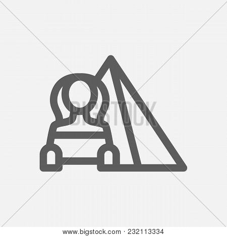 Travel City Series. Symbol Of Country Egypt City Icon. Isolated Vector Illustration Of Egypt, Pyrami
